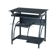 Stock cheap price glass computer desk