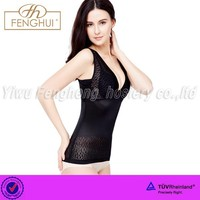 Summer thin v-neck is body shaper