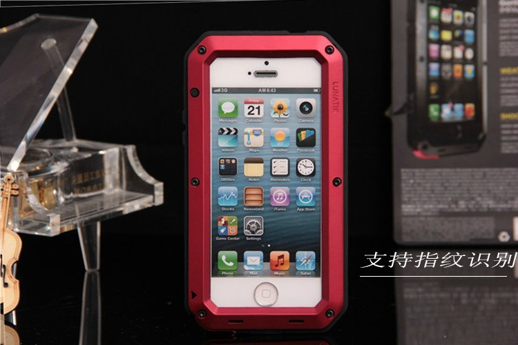 for iphone6 7plus / iphoneX Hard Metal Cell phone Shockproof Smartphone Universal Waterproof Phone cases