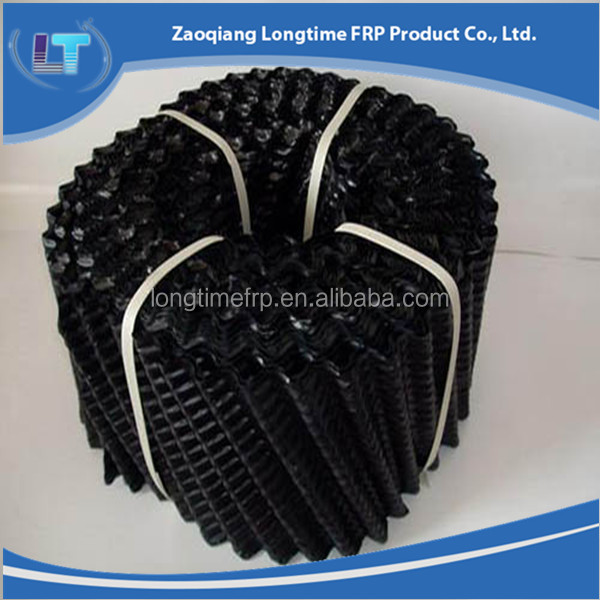 oblique cross cooling tower fill for round cooling tower, inclined cooling tower pvc sheet filler, plastic infill