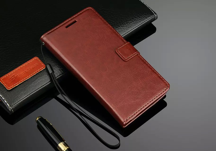 Luxury Business Style Stand Wallet Cases For One Plus 2/ With Card Slot PU Leather Case