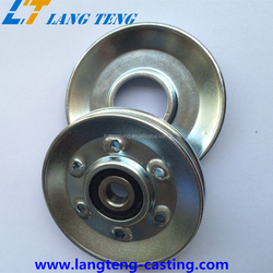 OEM U V Belt Groove Hanging Roller Sliding Door Pulley Small Metal Cable Rope Lifting Conveyors Pulley Wheels