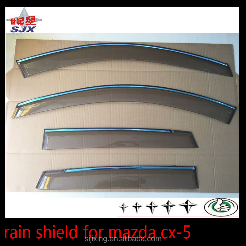 AUTO PARTS INJECTION DOOR VISOR FOR MAZDA CX5 2012 RAIN GUARD WINDOW SHADE VISORS