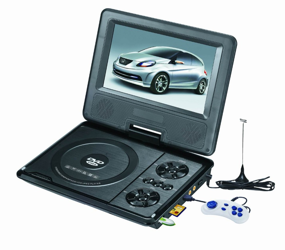 "Portable DVD TV USB SD Card FM RMVB Home DVD Player With TV 7"" 9"" 10"" 12"""