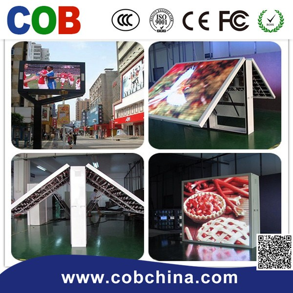 P10 outdoor video one /two /three sides full color outdoor led display
