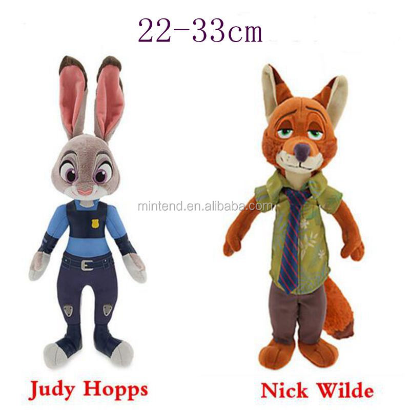 Lovely 22-33cm Cartoon Movie Rabbit Judy Hopps Nick wilde Stuffed Baby Plush toy