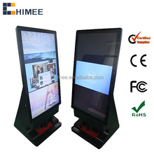 shoes Polish machine with ads display lcd video monitor signage kiosk