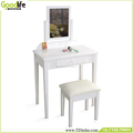 Wooden dressing table with mirror and stool , one set 3pcs