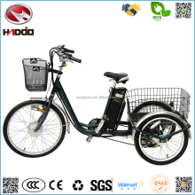 Wholesale cheap 250W big electric tricycle 3 wheel bike lithium battery scooter adult vehicle