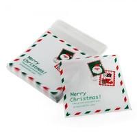 100 mas Santa Cello Cellophane Cookie Candy Treat Bags Self Adhesive Party