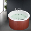 HS-B235A 1500mm outdoor wooden soaking tub,round bath tub prices