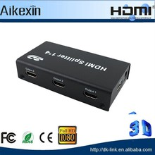 BEST PRICE short delivery time 1 to 4 HDMI Splitter HDMI Splitter 1x4 optical 1.3 1080p For Wholesale