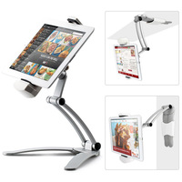 Kitchen Tablet Mount Stand 2-in-1 Kitchen Wall Tablet Mount Holder for 7-12 inch Tablet PC for ipad for Samsung Galaxy Tab