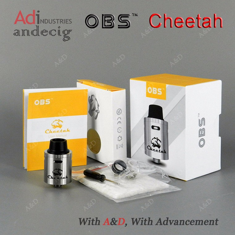 2016 Hot Selling 22mm Atomizer Tanks 100% Authentic Cheetah RDA Tank OBS Cheetah