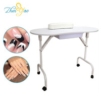 Foldable Beauty Nail Technician Desk Manicure Table With Carry Bag