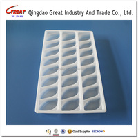 PP material Disposable Colorful Blister Plastic Food Tray