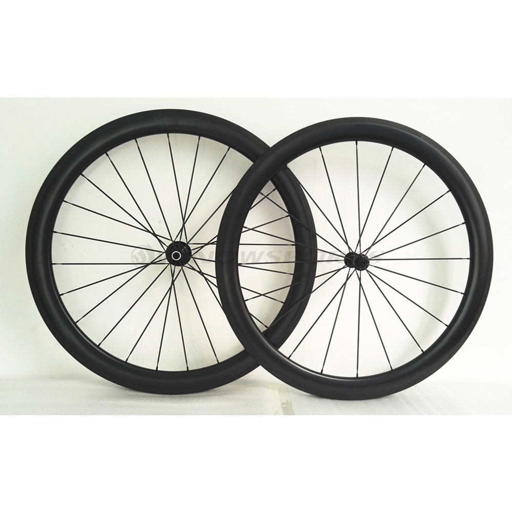 Winow 700C 50mm Clincher Carbon Wheels Clincher/Tubular carbon Bicycle Wheelset UD/3K racing bike carbon fiber wheel
