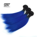 Beauty Product Hot Selling Brazilian Ombre Hair, Blue Black Hair Weave, Blue Hair Weave Color