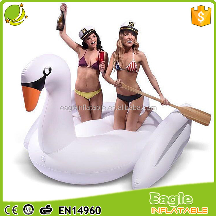 Factory wholesale top quality 2 person inflatable pool float strong swan float