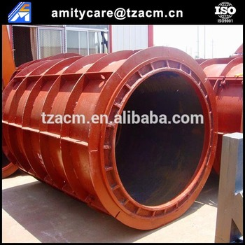 Prestressed cement pipe mould for drain pipe line