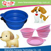 13cm Colorful Purple Best Promotional Silicone Cheap Dog Bowl