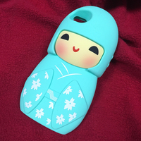 Wholesale shockproof 3D Japanese Doll Rubber universal full cover case custom silicone phone case 3d case for i5/5s/5c/SE
