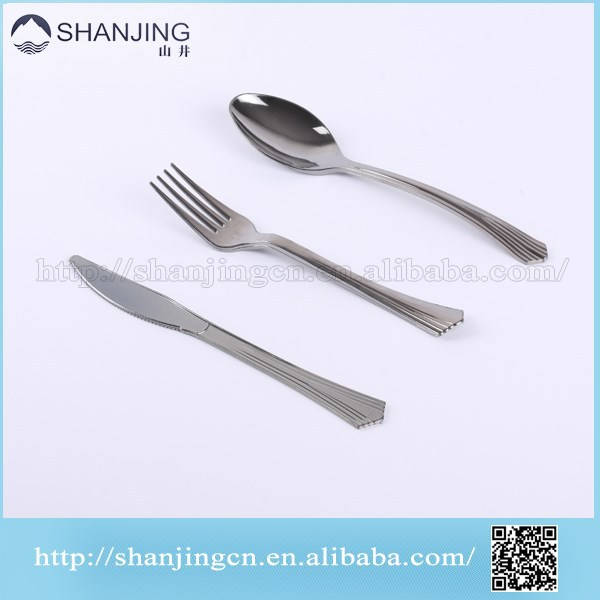 Reflections Heavyweight Looks Like Silver Disposable Flatware knife/fork/spoon