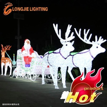 Santa claus led outdoor christmas light sculptures led 3d - Lumiere de noel exterieur ...