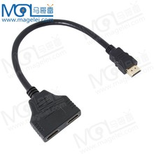 OEM Gold Plated HDMI 1.4 Cable 1 input 2 output HDMI splitter 1x2