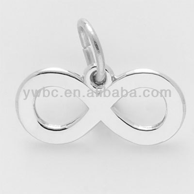 Vogue product silver alloy infinity charm wholesale