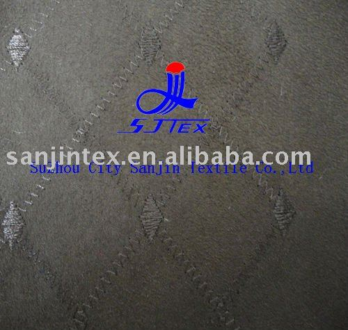 embroidered suede fabric /suede fabric