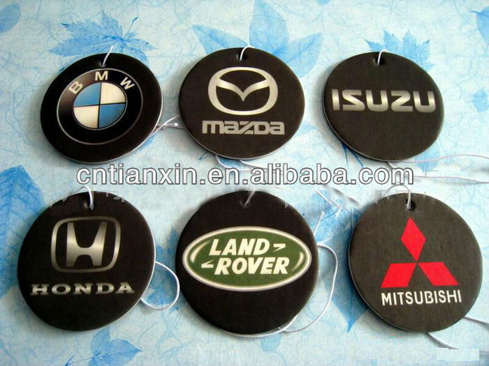 car logo car paper air freshener