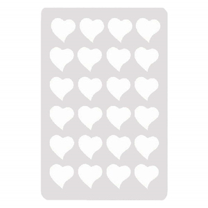 Cutting Different Shapes Acrylic Culinary Chocolate Stencil Heart Cake Decorating Tools