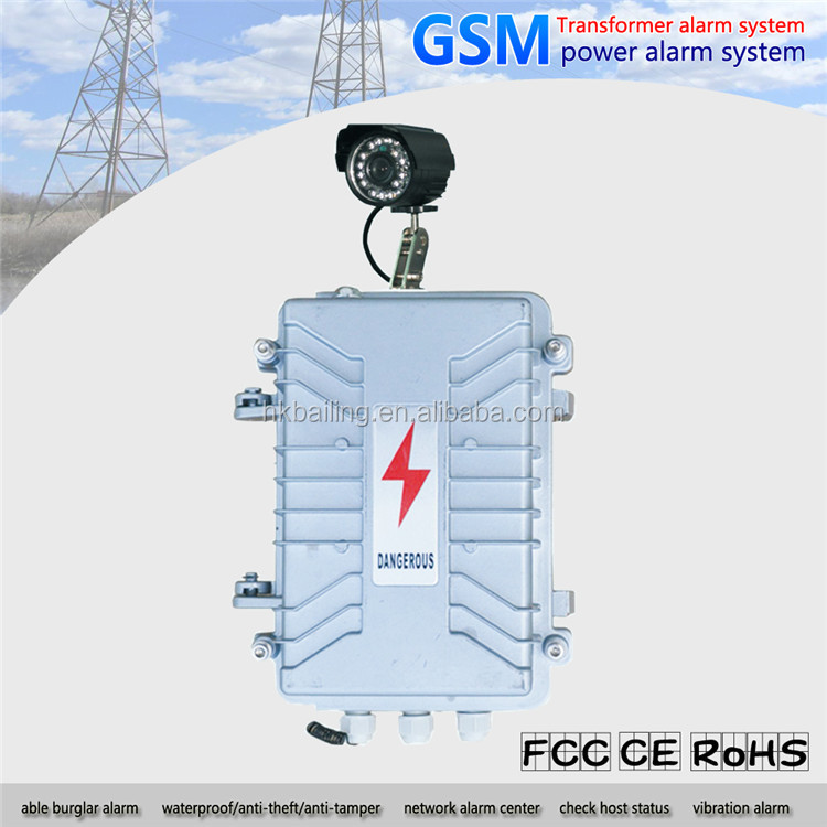power grid alarm station electric power transformer GSM Alarm system with with SMS and MMS function