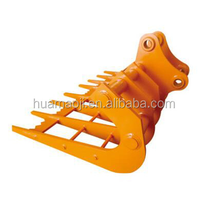 excavator root rake attachment for 6 tons machine