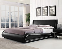Desiner Double Size PU Leather Furniture Bed 1882