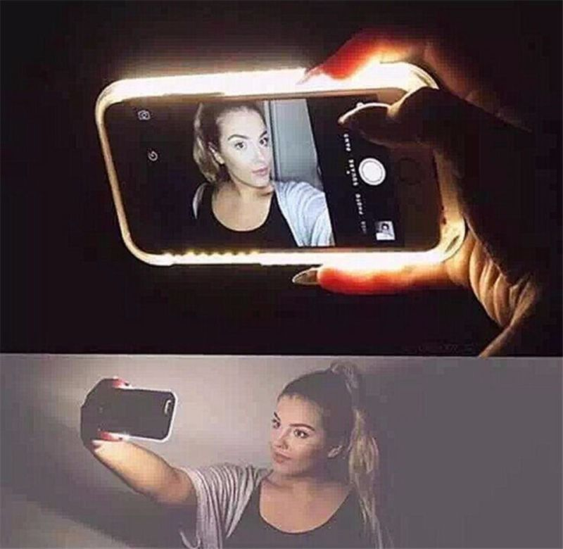 LED Light Selfie Phone Case Skin for iPhone 6 6s 6+ 6s+ Luminous Phone Cover