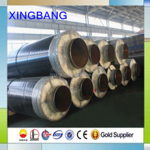 Flexible pre fabricated pipe with seamless steel carrier pipe for steam supply pipeline
