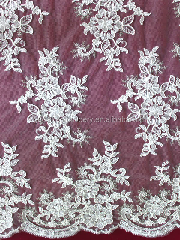 embroidery lace fabric/lace fabric wholesale for apparel garments accessories