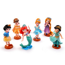 Lunghi capelli Della Principessa Sleeping Beauty Princess Mermaid Doll ornamenti set di Cenerentola. pvc figure giocattoli