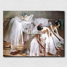 home decor wall art stretched printed canvas Ballet oil painting