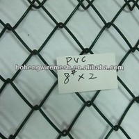 PVC COATED CYCLONE WIRE MESH OF 2.0M, CHAIN LINKE FENCE OF 2 INCH