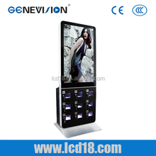 Multifunctional indoor advertising media monitor all in one pc digital screen phone charging station
