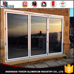 100% export to Australia Double glazed aluminium bi fold doors made in china