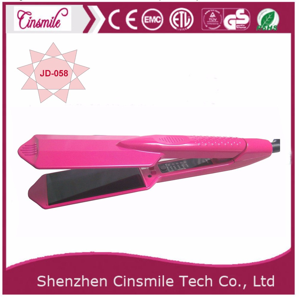 Professional iron 2 in 1 hair straightener curler curling iron with private label