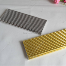Gold Foil Party New Crazy Sell Paper Drinking Straws
