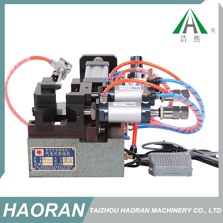 Waste recycling copper cable pneumatic wire stripping machine,DC-305 pneumatic stripping machine
