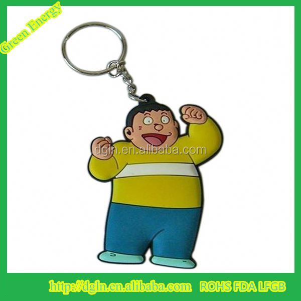 Made in China high quality 3D Custom soft PVC Keychain / Soft Rubber Keychain / Silicone Animal Shaped Keychain