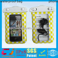 Tpu mobile phone waterproof pouch dry bag pack case cover