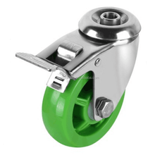hot medium duty caster Hot Selling stainless steel hospital Hollow Kingpin caster wheel with brake